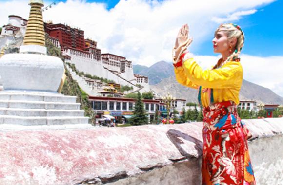 外国人西藏旅游5天4晚拉萨羊湖外宾小团(1-12人精品外宾小团)
